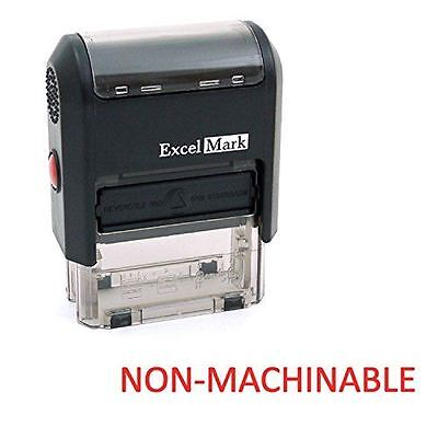 New Excelmark Non-machinable Self Inking Rubber Stamp A1539 Red Ink