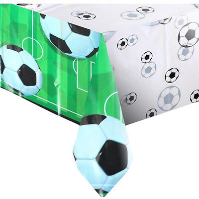 3D SOCCER PLASTIC TABLE COVER ~ Sports Birthday Party Supplies Decorations - Soccer Birthday Party Supplies