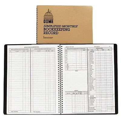 Dome Weekly Bookkeeping Record - 128 Sheets - Wire Bound - 11.25 X 8.75