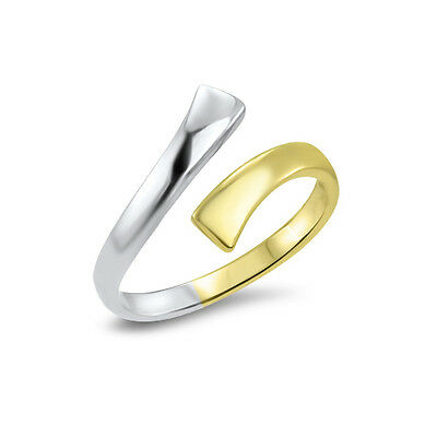 10KT Solid White Yellow Gold Adjustable Toe Ring