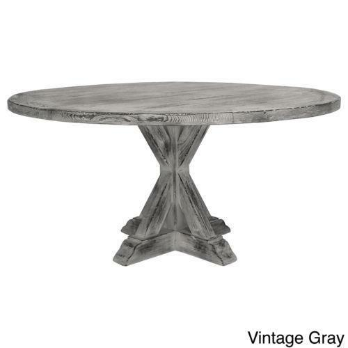 round reclaimed wood dining table ebay. Black Bedroom Furniture Sets. Home Design Ideas