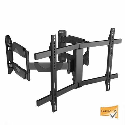 "Brateck Full-Motion 37""-70"" 45kg/99lbs Heavy Duty Corner Mount Curved & Flat TV"