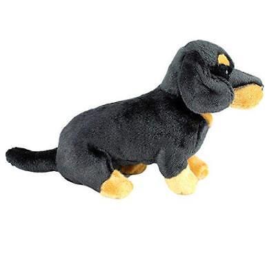 Plush Dog DACHSHUND Black & Tan Soft Cute Collectible Toy Stuffed Animal Branded
