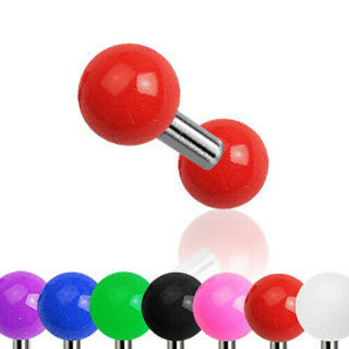 G#2 - 7pcs Solid Color UV Ball Stud Tragus Rings Wholesale Body Jewelry