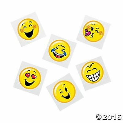 72 Emoji Face Smile Happy Temporary Tattoos Birthday Party Favors Gifts ](Tattoo Emoji)