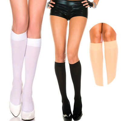 Autumn Solid Opaque Knee High Socks Stockings Goth Lolita Neon Candy Colors - Neon Knee High Socks