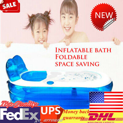 New Adult PVC Folding Inflatable Bathtub Traveling Portable SPA Bath Tub US Ship](Inflatable Bath Adult)