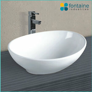Above Counter Bathroom Sink Bowls : ... Above-Counter-Basin-Bathroom-Ceramic-Elegant-Unique-Soft-Shape-Sink