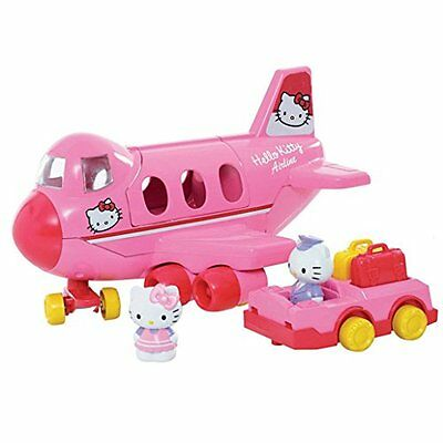 Hello Kitty Jumbo Jet Spielset Bauen Flugzeug Katze Geschenkset Figuren Play