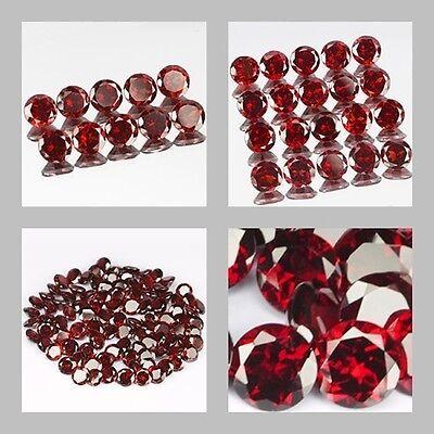 2mm Lot 10,20,100pcs Round Cut Accent Stone Natural Red MOZAMBIQUE GARNET