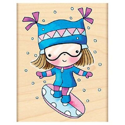 PENNY BLACK RUBBER STAMPS EXTREME MIMI SNOWBOARDING NEW 2012 STAMP