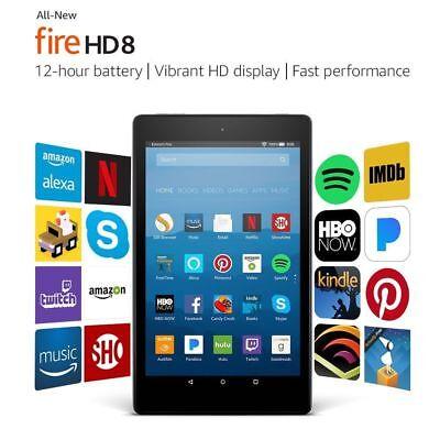 All New Fire Hd 8 Tablet With Alexa 8  Hd Display 16 Gb Black   2017 7Th Gen New