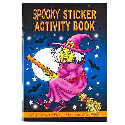 10 x SPOOKY HALLOWEEN 36 PAGE KIDS ACTIVITY COLOUR STICKER BOOKS TRICK OR - Kids Halloween Activity Pages