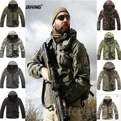 Military Jacket Men (Hot ESDY Shark Skin Soft Shell Men's Outdoors Military Tactical Coat Jacket)