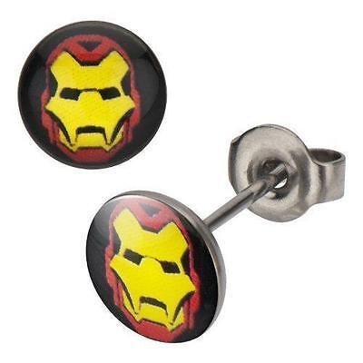 316L,Iron-Man, Stud, Earrings Post Earings Ironman Iron - Iron Man Jpg
