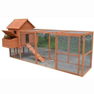 X-Large Chicken Coop Hen house Chook Hutch Cage With Big Run T052