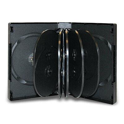 10 Multi 39mm 12-disc Black Cd Dvd Disc Storage Case Movie Box
