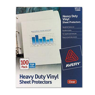 Top-Load Vinyl Sheet Protectors, Heavy Gauge, Letter, Clear, 100/Box