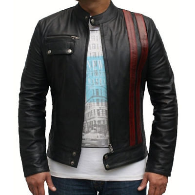 MEN STYLE ZIPPER BIKER JACKET | Death Race: Frankenstein Leather - Frankenstein Jacket