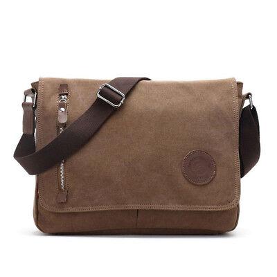 Vintage Men's Satchel Shoulder Messenger Bag New Canvas Schoolbag Laptop Bags