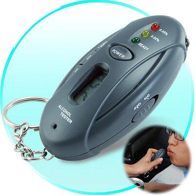Breathalyzer Keychain Digital Alcohol Level Tester + Flashlight + Stopwatch