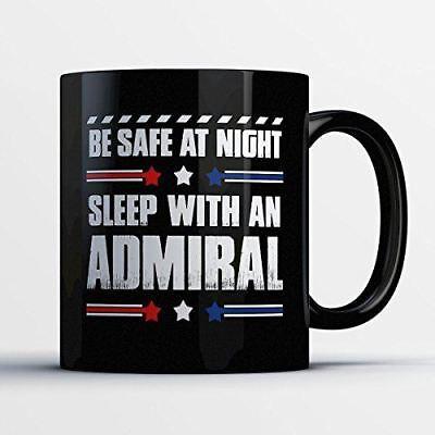 Colonel Coffee Mug – Be Safe At Night Sleep With A Colonel - Funny 11 oz Black C Colonel Coffee Mug