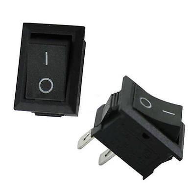 Nice 5pcs 250v 3a Mini Boat Rocker Switch Spst On-off 2-pin Plastic Button Ca
