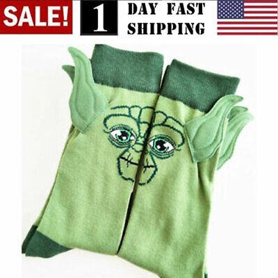 US! Star Wars Yoda Master Cotton Socks Men Women Stitching Funny Stockings