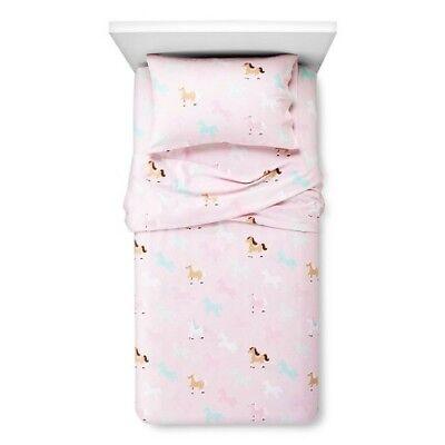 Circo Horse Pink Girls Flannel Sheet Set Cotton Twin 3 (Horse Twin Sheet Set)