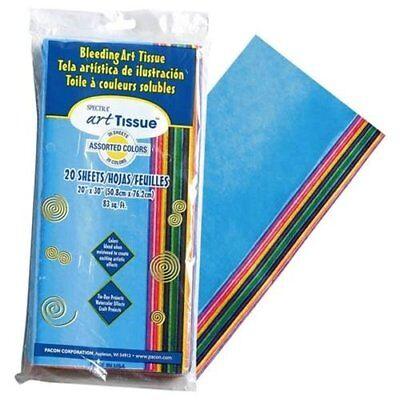 Pacon Spectra Art Tissue Paper Assortment - 20 Sheetspack - 24 Carton 58506
