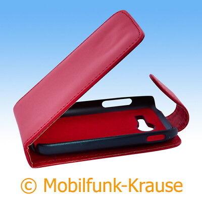 Flip Case Etui Handytasche Tasche Hülle f. Samsung Galaxy Pocket 2 (Rot)