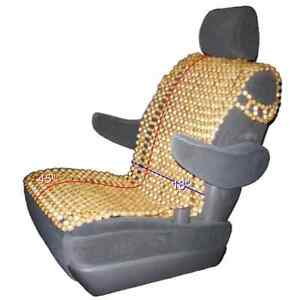 Wood Beaded Car Seat Cushion Massage Cover Wooden Beads