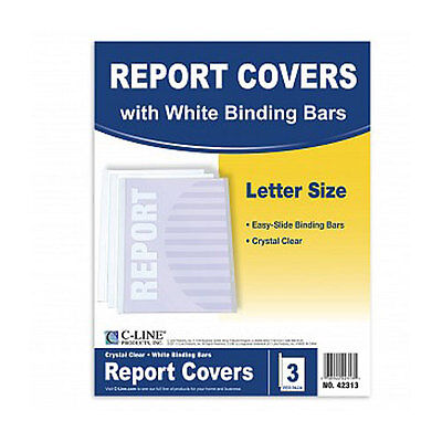 New C-Line Clear Polypropylene Report Covers with Binding Ba