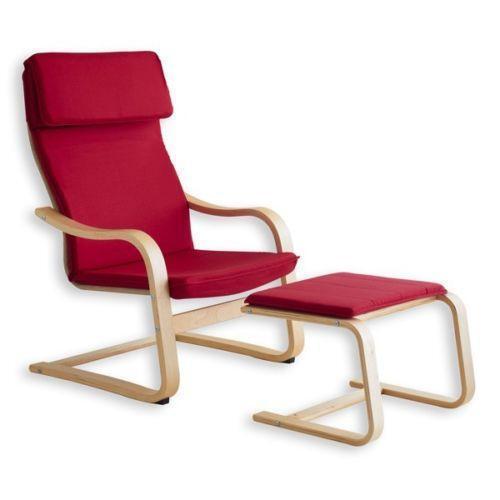 schwingsessel mit hocker sessel ebay. Black Bedroom Furniture Sets. Home Design Ideas