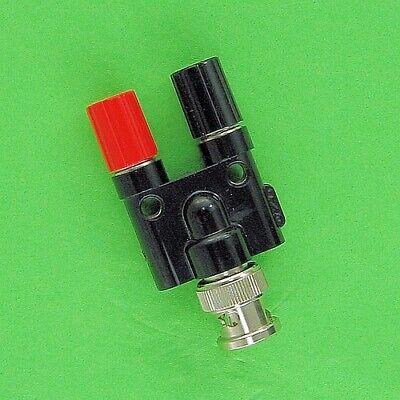 Pomona 1296 Adapter Bnc Male To 4mm Dual Banana Jacks W 5-way Binding Posts New