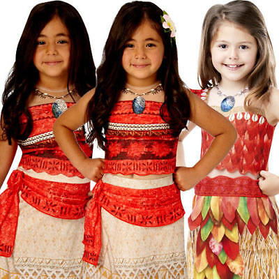 Moana Girls Fancy Dress Disney Princess Hawaiian Book Day Kids Child Costumes](Hawaiian Disney Princess)