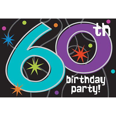 OVER THE HILL Party Continues 60th BIRTHDAY INVITATIONS (8) ~ Supplies Cards](60 Birthday Invitations)