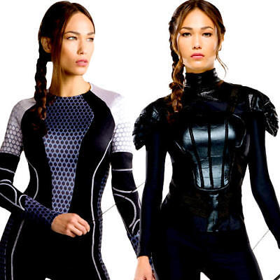Katniss Ladies Fancy Dress The Hunger Games Book Movie Adults Womens Costume New ()