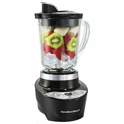 Hamilton Beach Smoothie Smart Blender with 5 Speeds & 40 oz Glass Jar Black NEW