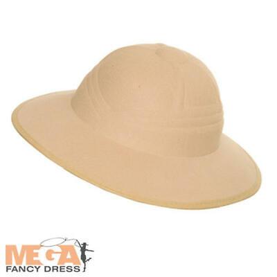 Zoo Keeper Costume Adults (Safari Hat Adults Fancy Dress Jungle Zoo Keeper Mens Ladies Costume Accessory)