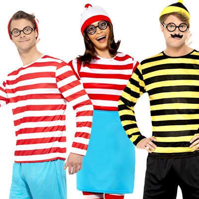 Where's Wally Adults Fancy Dress World Book Day Week Waldo Character Costumes