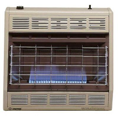 30000 Natural - Empire Vent-Free Blue Flame Heater Natural Gas 30000 BTU, Thermostatic Control