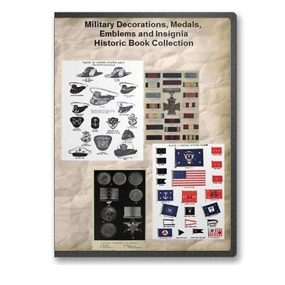 - Military Decorations, Medals, Emblems and Insignia - 16 Historic Books CD - D465