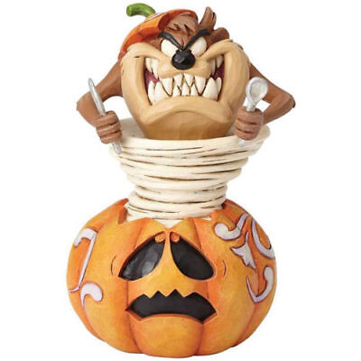 NEW JIM SHORE Halloween TAZ Pumpkin Carving Stone Resin - Taz Halloween