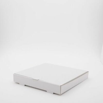 25 x 12 inch WHITE Pizza Boxes, Takeaway Pizza Box, Strong Quality Postal Boxes