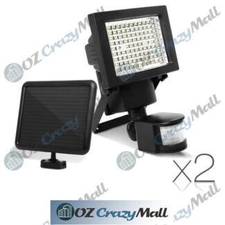 2x 100 LED Super bright Solar Sensor Light
