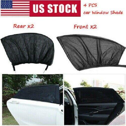 4Pcs Sun Shade Front & Rear Window Screen Cover Sunshade Protector Car US