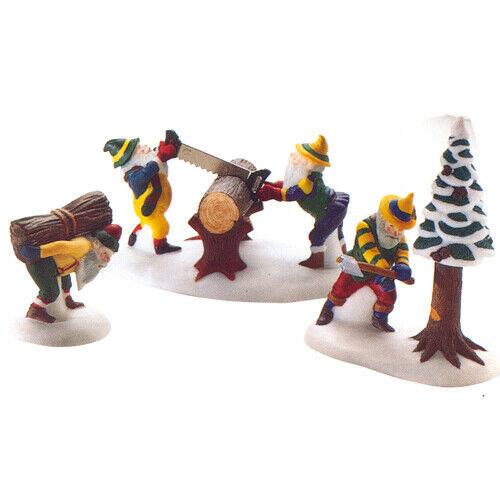 Dept. 56 North Pole ~ Woodsmen Elves ~ Mint In Box 56308