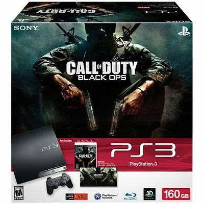 Playstation 3 - PlayStation 3 160GB Call Of Duty: Black Ops Bundle Very Good 7Z