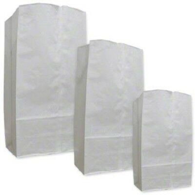 25 Ajm White Paper Grocery Bags 8 Wide 5 14 Deep 17 78 Tall 50pkg